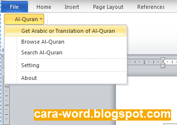 Cara Menggunakan Quran In Word