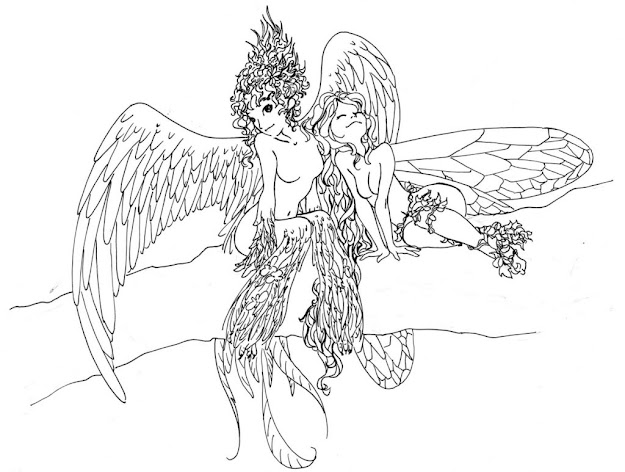 Fairy Coloring Pages For Adults Pictures Colorine Detailed Fairy Coloring  Pages For Adults Fairy Tale Coloring Pages For Adults