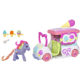 My Little Pony Rainbow Swirl Vehicle Playsets Ice Cream Dream Supreme G3 Pony