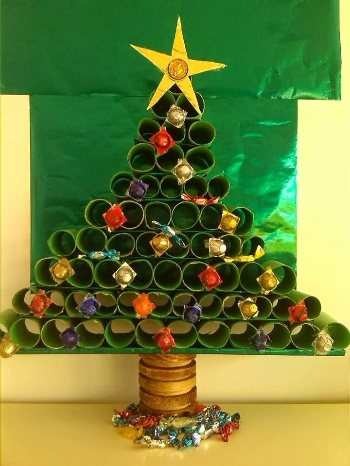 Rbol De Navidad Con Rollo De Papel