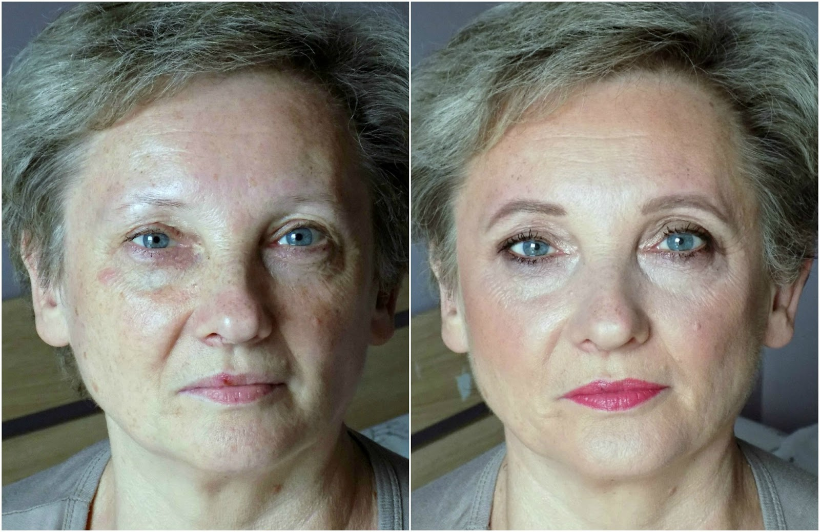 Makeup makeover for mature skin