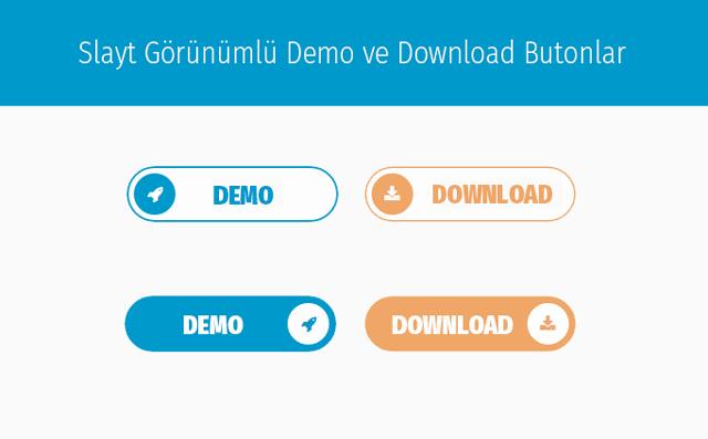 Slayt Görünümlü Demo ve Download Butonları Yapma