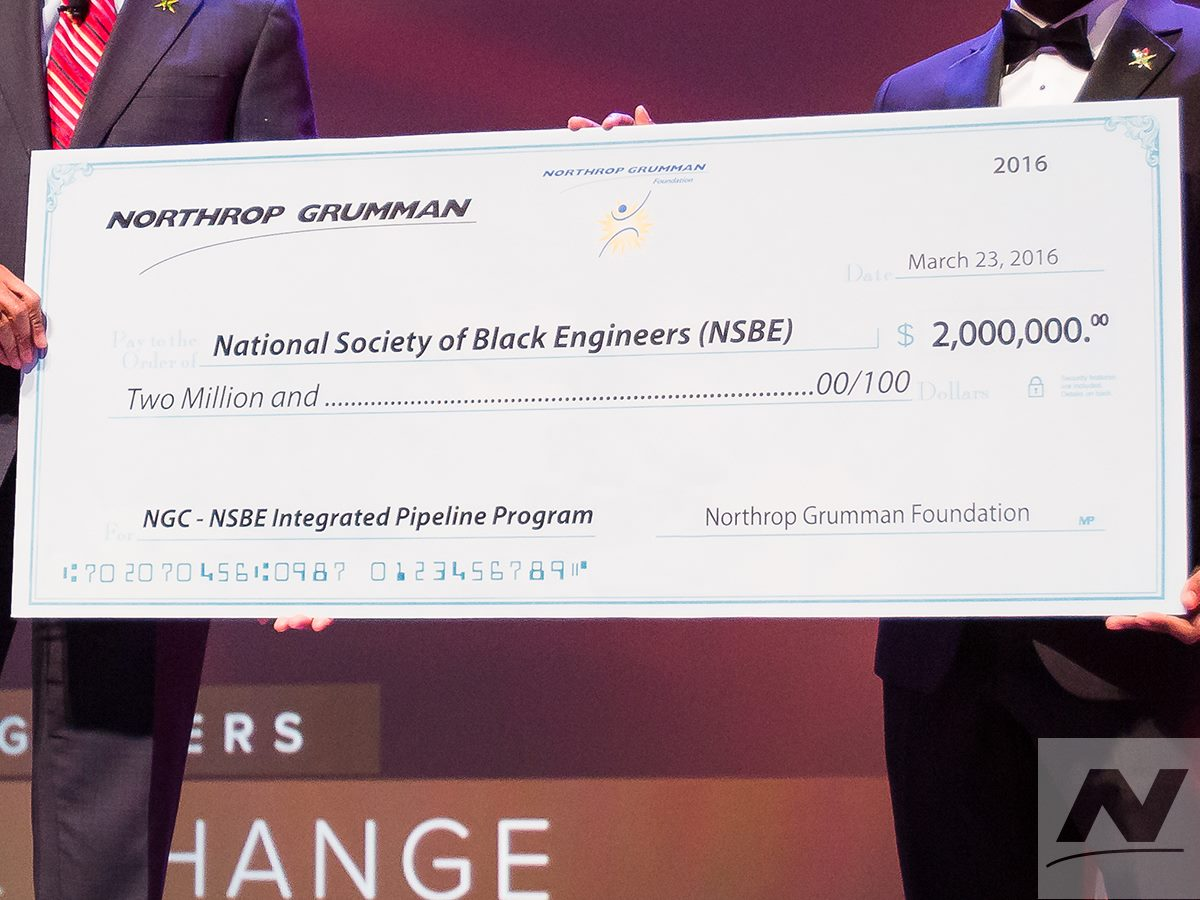 AFRICAN AMERICAN REPORTS: Northrop Grumman Gives $2 Million