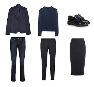 Темно-синий базовый гардероб