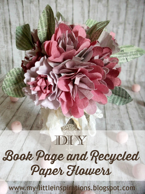 DIY Book Page Flowers 1 - MLI