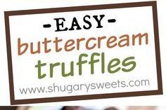 Buttercream Truffles Recipe