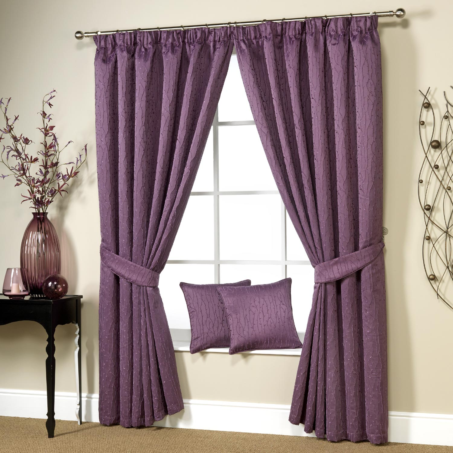 Light Green Curtains In The Box Peach Purple Safety Curtain