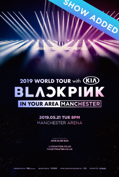 2019 BLACKPINK World Tour in Your Area Manchester is Announced