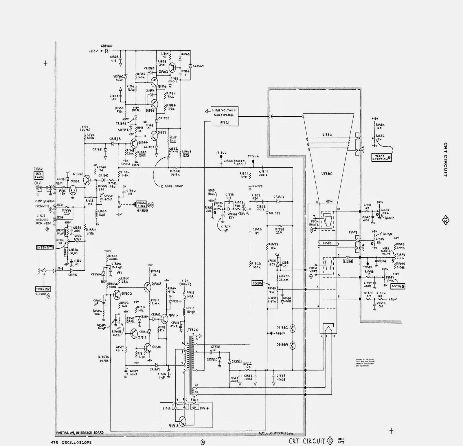 musings of a wahz: i have a tektronix 475! crt schematic diagram #3