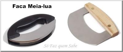 Foto de Faca de Picar ou Faca Meia-lua que em inglês chamamos Mincing Knife