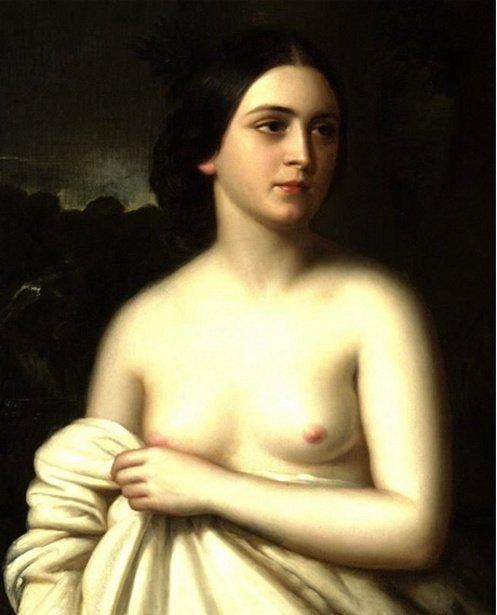 Portrait Of A Woman Giuseppe (Joseph) Fagnani (1819 – 1873, Italian-born American)