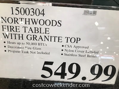 Deal for the Northwoods Gas Fire Table with Granite Top at Costco