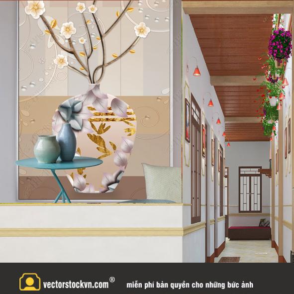 Tranh Bình hoa 3d_id41512