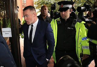 Former manchester united wayne rooney has been banned for driving till 2years and given 100hours' Community service