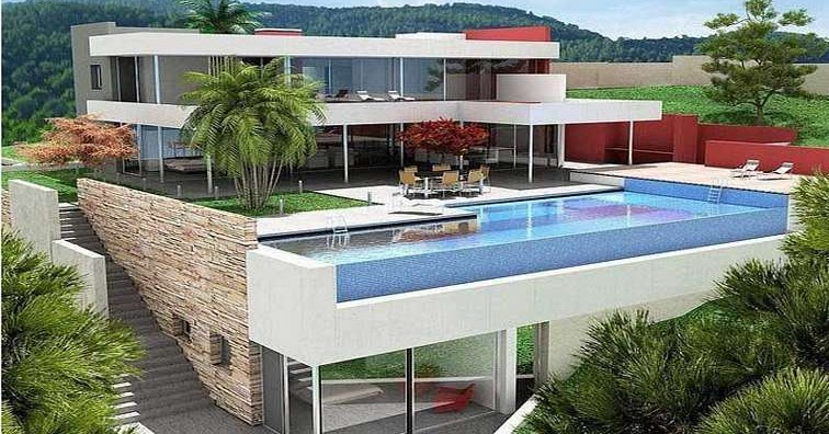 Konsep Terkini 42 Desain Rumah Lantai 2 Dengan Kolam Renang