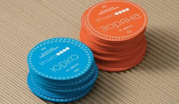 Kartu nama keren berbentuk koin