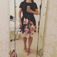 Ted Baker black wedding guest dress