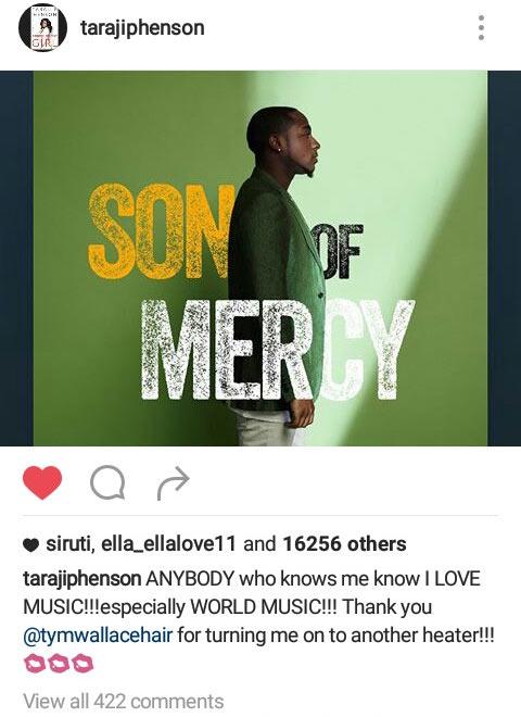 Empire star Taraji P Henson praises Davido's music