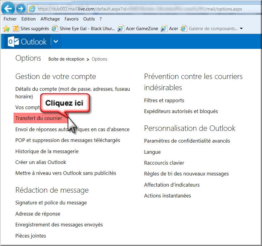 Un compte Microsoft est une adresse e-mail et un mot de passe que vous utilisez avec Outlook.com, Hotmail, Office, OneDrive, Skype, Xbox et Windows. Lorsque vous créez un compte Microsoft, vous pouvez utiliser n'importe quelle adresse e-mail comme nom d'utilisateur, y compris des adresses Outlook.com, Yahoo! et Gmail.