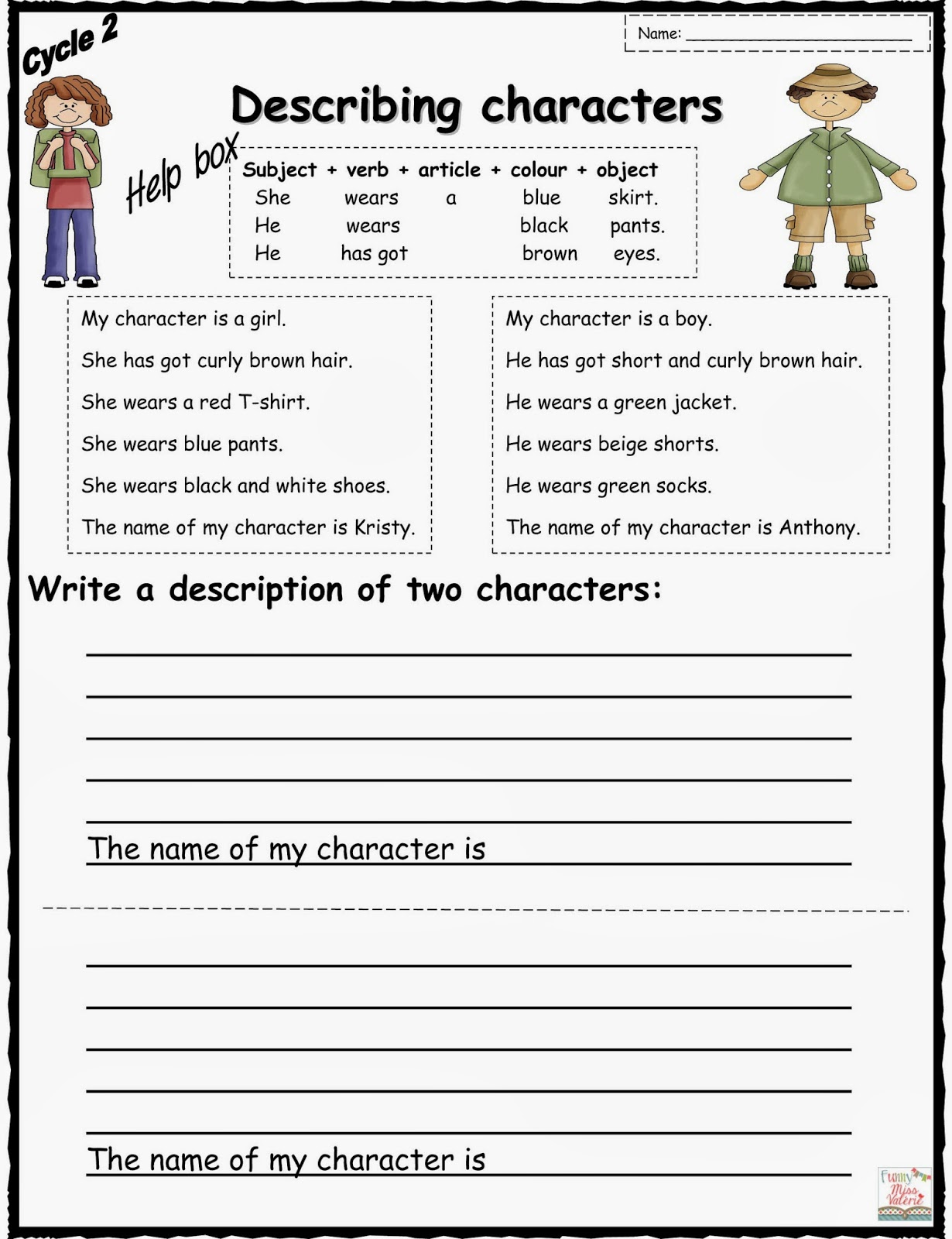 Esl Worksheets Describing Clothes