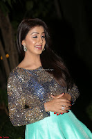 Nikki Galrani in Green Skirt  Top at Marakathamani music launch ~  Exclusive (78).JPG