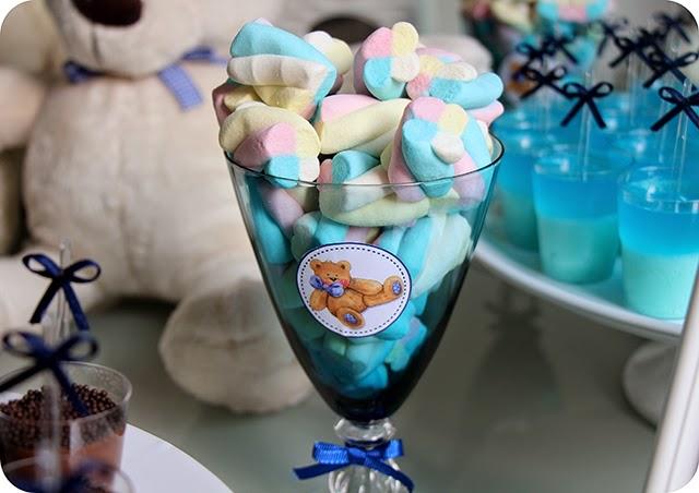 Taças com Mashmallow