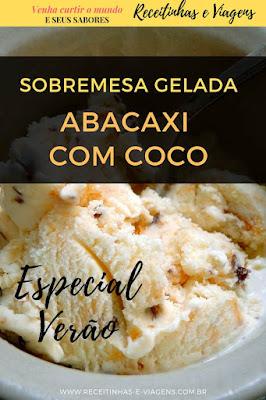 sobremesa gelada abacaxi com coco