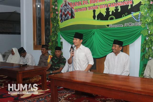 Lapor Rakyat, Plt Bupati Trenggalek Sampaikan Alokasi APBD tahun 2019 di Kecamatan Durenan