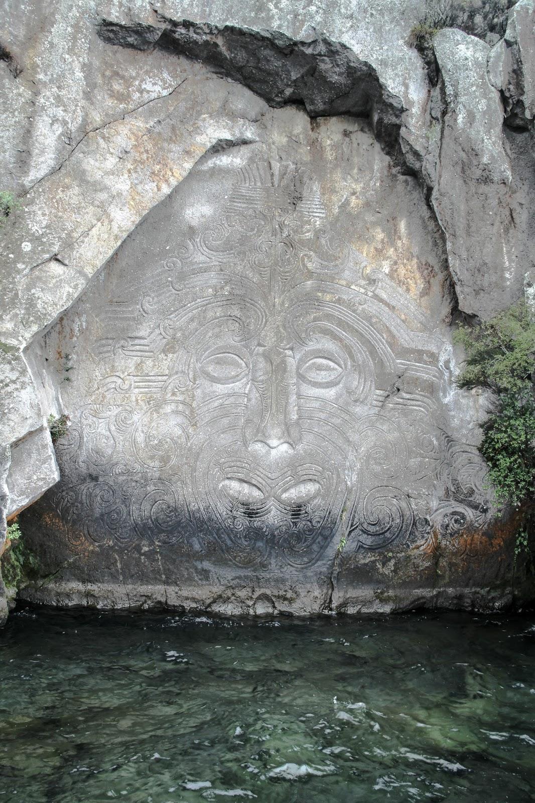 Sir tobi the tall maori stone carvings