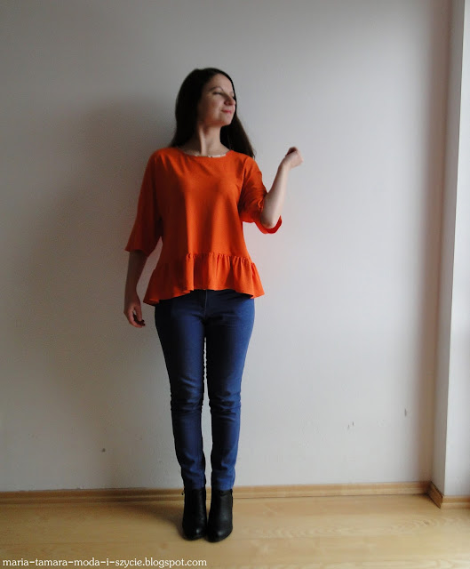 bluzka pomarańczowa