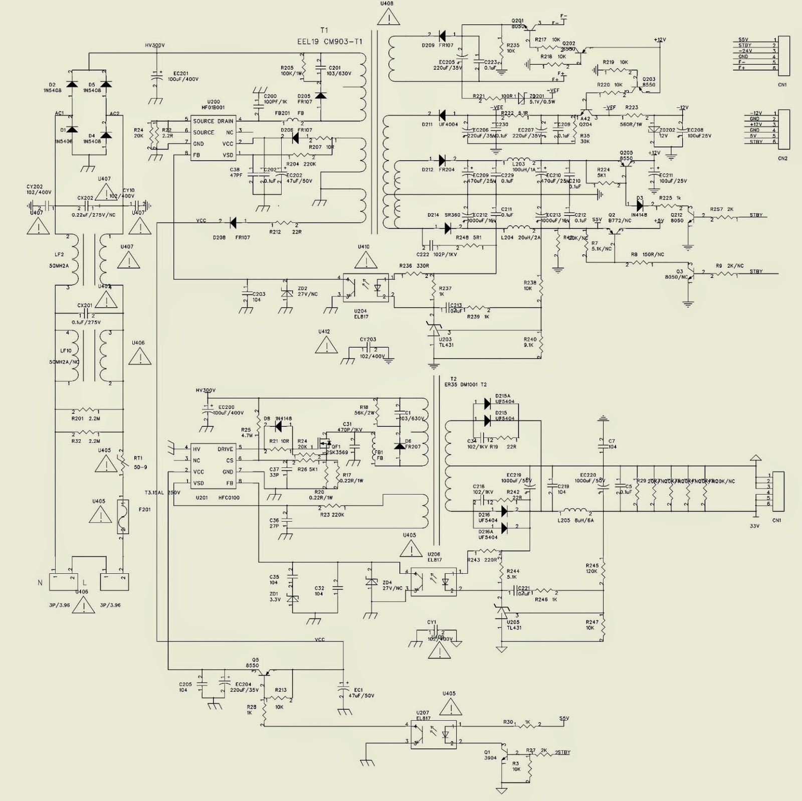 THE CIRCUIT DIAGRAM OF POWER SUPPLY REGULATOR 12V20V AND
