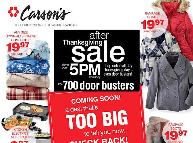 Carson's Black Friday 2017 Ad