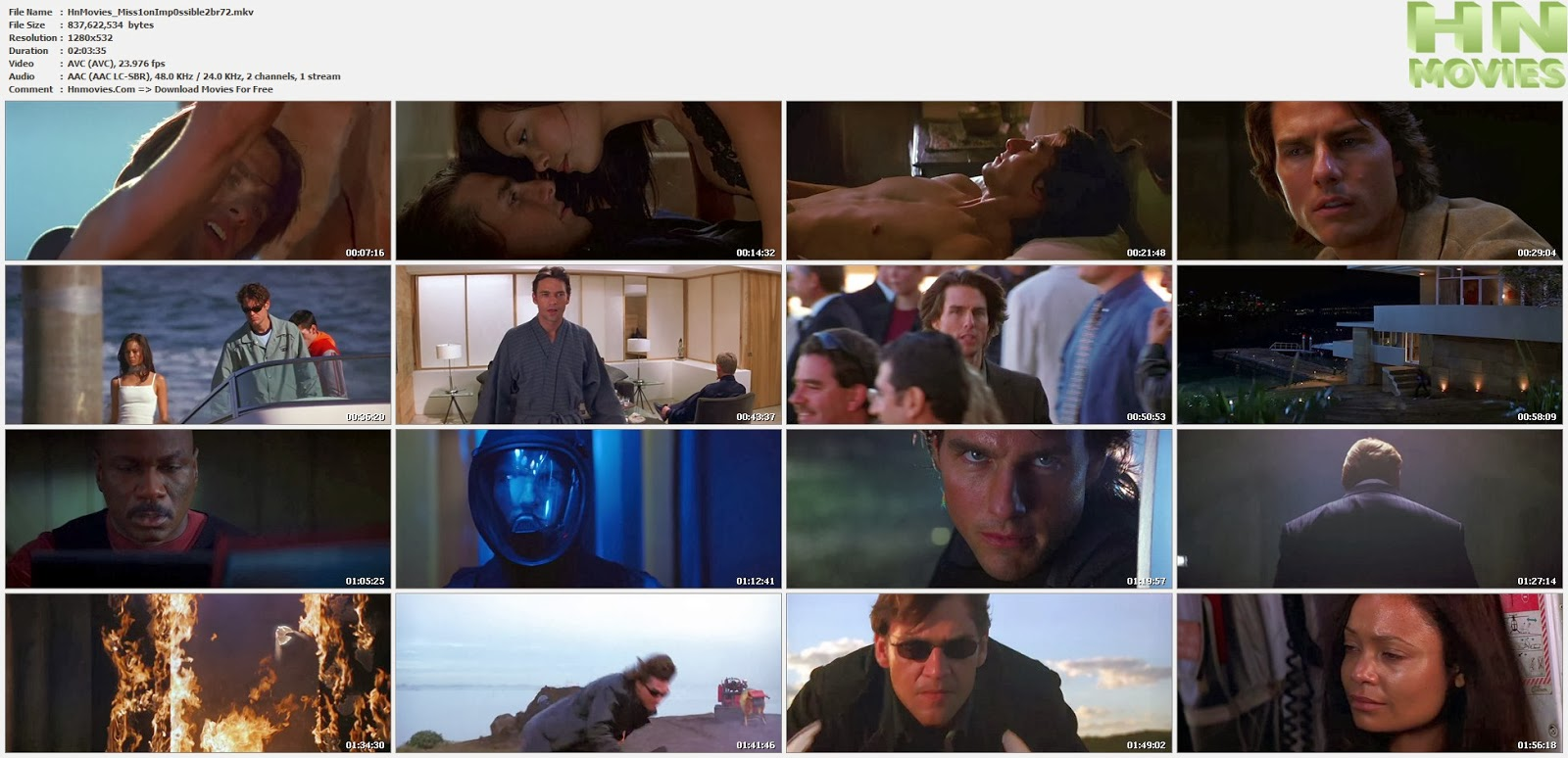 1600 x 774 · 196 kB · jpeg, Mission Impossible II (2000) BluRay 720p ...