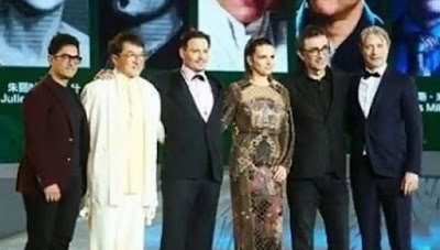 Aamir Khan, Jackie Chan and Johnny Depp on stage together is just too much talent.