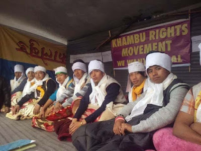 Khambu hungerstrike for tribal status