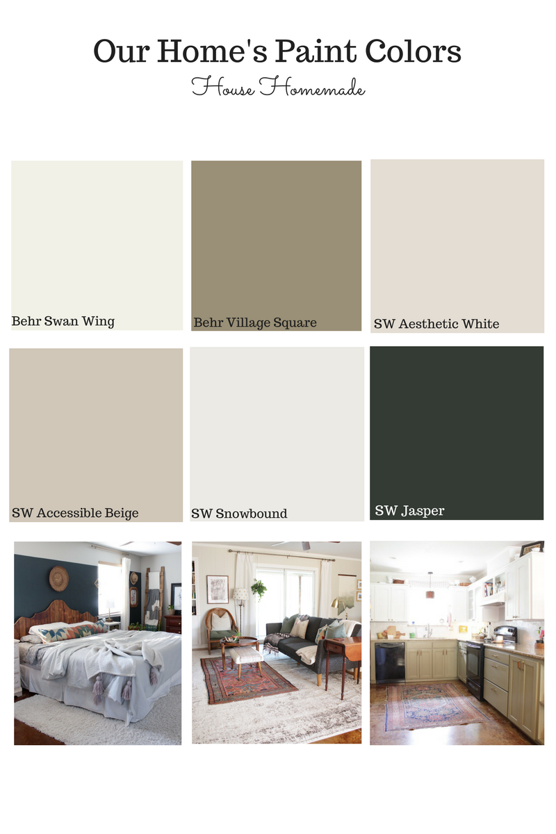 House Homemade paint color source list