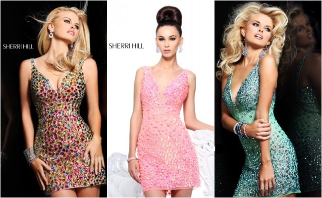 Sherri Hill prom mini dresses