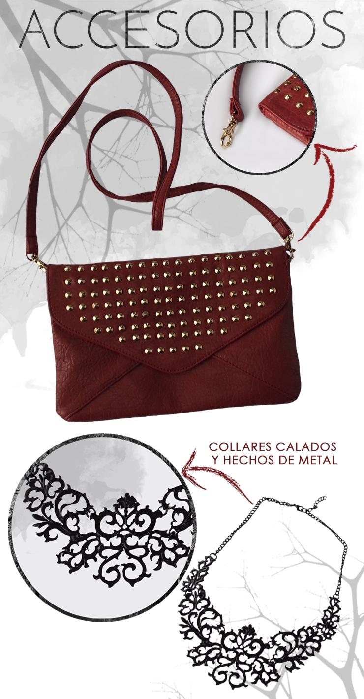 Haul de accesorios bolso con tachuelas y collar gótico