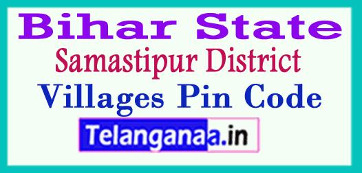 Samastipur District Pin Codes in Bihar State