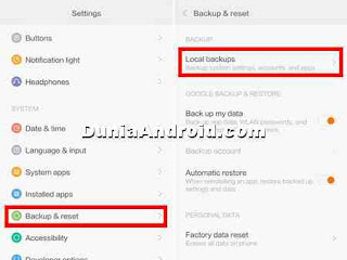 backup dan restore data hp xiaomi