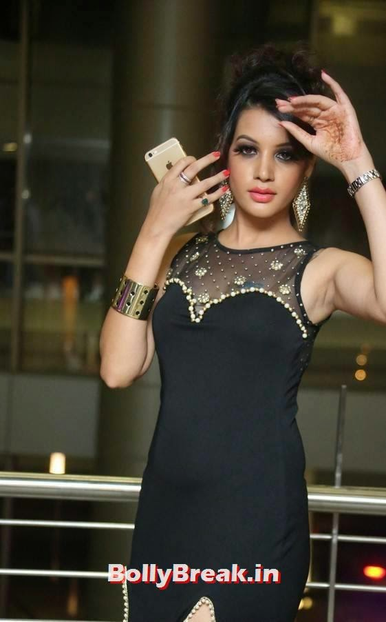 Deeksha Panth armpit, Deeksha Panth Hot Photos in Black Without sleeve Dress