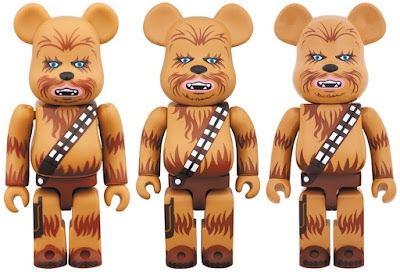 Star Wars Chewbacca 100%, 400% & 1,000% Be@rbrick Vinyl Figures by Medicom