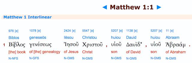 Matthew 1:1.