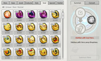 Tutorial Hero Soul System LostSaga Indonesia