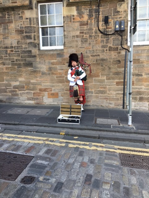 Edinburgh Scotland bagpipe
