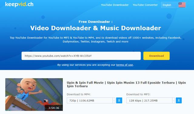 Download Youtube dengan Keepvid.ch