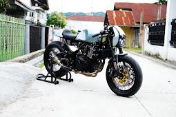 Kawasaki Ninja 250cc Cafe Racer Modifikasi Oleh Oleh Suluh Perdamaian