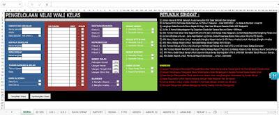 Aplikasi Terbaru Pengolahan Nilai Guru Wali Kelas.Xls
