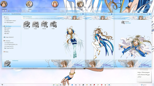 Aa! Megami-sama! - Belldandy Theme Win 7 by Andrea_37