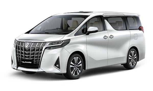 Pilihan Warna Variasi Modifikasi Mobil TOYOTA ALPHARD Merah Biru Coklat Silver Hitam Putih Terbaru 2018 Nasmoco Wilayah Banda Aceh, Medan, Sumatra Utara